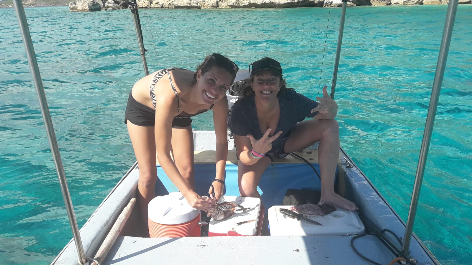 Lionfish Hunting Boat Curacao